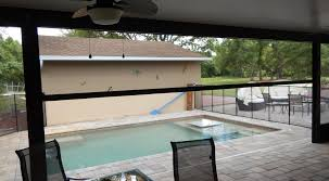 Retractable Awning With Bug Screen Motorized Retractable Screens And Awnings At Proretractable