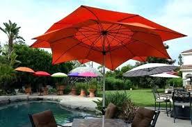 Portable Patio Umbrella by Solar Patio Umbrella Blue Corliving Patio Umbrella With Solar