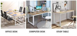 Computer Desk Glass Trade Me Amazon Com Tribesigns Computer Desk 47