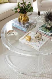 round acrylic coffee table ava modern round clear glass acrylic