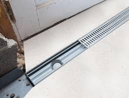 trenchdrain basement u0026 garage entry drainage