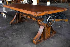 Commercial Drafting Table Vintage Industrial Bronx Crank Table Conference Room Wine Tasting