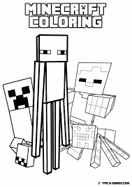 minecraft enderman coloring pages getcoloringpages com