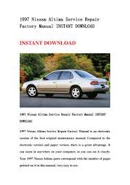 Nissan Altima 1997 - 1997 nissan altima service repair factory manual instant download
