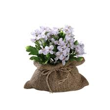 plamblossom light violet lpp in sack artificial flowers leaf