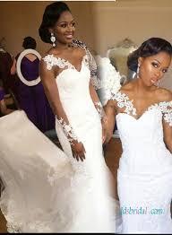h1027 sheer long sleeves lace mermaid wedding dress