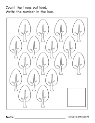 number 17 writing counting identification printable