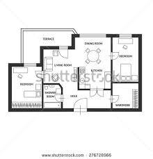 architect plan vector illustration black white floor architect stock vector