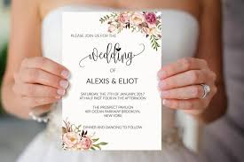 marriage invitation card sle sale 5 floral wedding invitation templates printable wedding