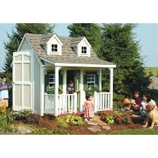 suncast 8 x 6 u0027 backyard cottage playhouse with front porch