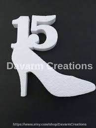 quinceanera styrofoam plystyrene quinceanera shoe party