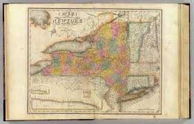 Map Of New York State by New York State Surrounding Country David Rumsey Historical Map