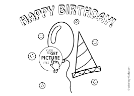 happy birthday coloring pages for kids coloing 4kids com