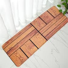 tapis pour cuisine 40 120 cm plancher de bois tapetes coureur tapis polyester tissu