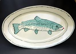 ceramic fish platter 133 best fishy dishes images on pisces dishes and shells