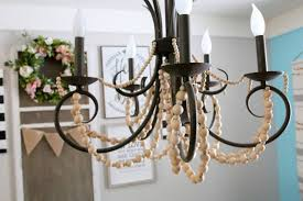 Beaded Chandelier Diy Wood Beaded Chandelier Good Stylish Ideas About Beaded Chandelier