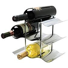 amazon com oggi 9 bottle stainless steel wine rack