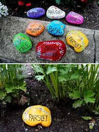 handmade unique painted rock garden markers i would want