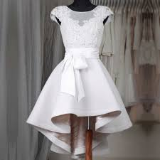 white homecoming dresses a line scoop neck satin tulle