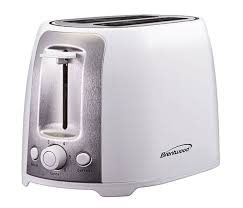 White Toaster 2 Slice Toaster Brentwood Appliances