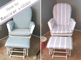 rocking chair cover runs with spatulas crafty fridays how to recover a glider