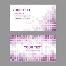 Purple Business Cards Free Vector Graphic Purple Business Card Design Free Image