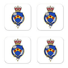 buy ransom family crest square coasters coat of arms