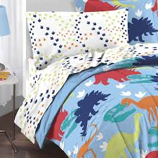 amazon com dream factory dinosaur prints boys comforter set