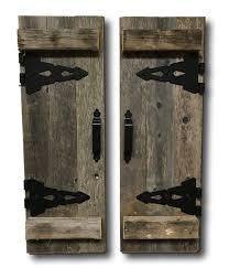 Reclaimed Barn Doors For Sale by Amazon Com Barn Wood Rustic Decorative Shutter Set Of 2 With