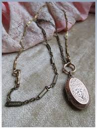silver watch chain necklace images Victorian locket watch chain necklace in gold fill 1800s necklace jpg