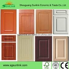 mdf kitchen cabinet doors china kitchen furniture part pvc film mdf kitchen cabinet door