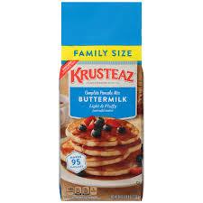 Pancake Flour Krusteaz Complete Pancake Buttermilk Family Size Mix 56 Oz