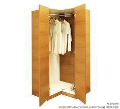 corner wardrobe closet w 2 doors and 2 hangrods item 6616