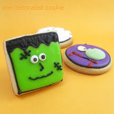 monster face cookies for halloween
