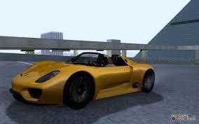 Porsche 918 Concept - 918 spyder concept study for gta san andreas