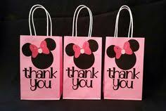 red minnie mouse party favor thank you bags 12bags by