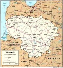 map of be lithuania maps perry castañeda map collection ut library
