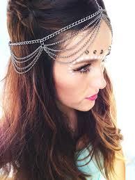chain headpiece 2018 silver chain layered hair chain headpiece boho