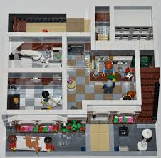 lego ideas modular veterinary with apartment and woodworking shop