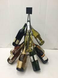 christmas tree wine bottle counter top display rack 9600
