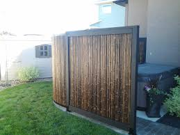 tub privacy screen made of bamboo bamboo outside