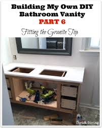 Granite Bathroom Vanity by Build A Diy Bathroom Vanity Part 6 Adding A Granite Vanity Top