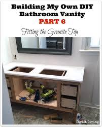 Granite Bathroom Vanities by Build A Diy Bathroom Vanity Part 6 Adding A Granite Vanity Top