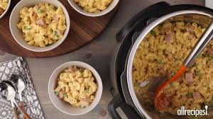 instant pot mac and cheese with ham and peas video allrecipes com