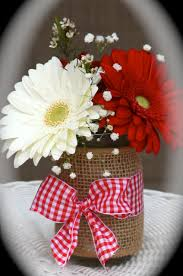 Daisy Centerpiece Ideas by One Of The Mason Jars With Gerber Daisies And Baby U0027s Breath Pink