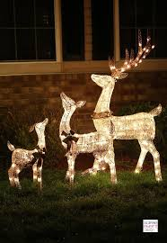 lawn reindeer with lights light up lawn decorations 25 unique outdoor reindeer decorations