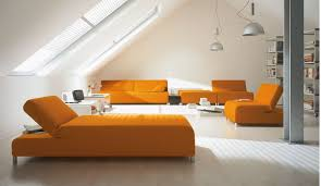 Living Room Sleeper Sofa Bed Microfiber Sectional Couch Also - Orange living room set