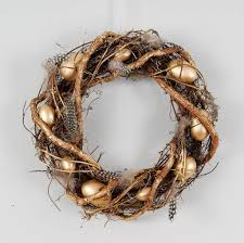 easter wreath gold egg easter wreath by ella notonthehighstreet