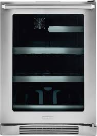 Glass Door Beverage Refrigerator For Home by Electrolux Ei24bc10qs 24 Inch Undercounter Beverage Center With 2