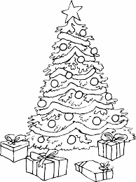 christmas coloring pages tree coloring
